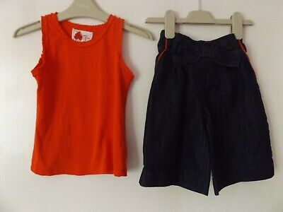 Next girls summer outfit / set shorts and vest top aged 4-5 Years