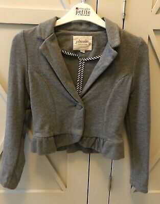 Mini Boden Girls Johnnie B Grey Jacket,Age 8