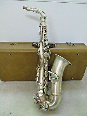 Conn Alto Sax - Vintage Silver Plated - Rolled Tone Holes
