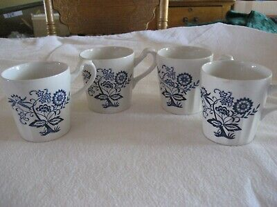 Johnson Bros Nordic Blue Cup/Mugs Made in England SET OF FOUR CUPS