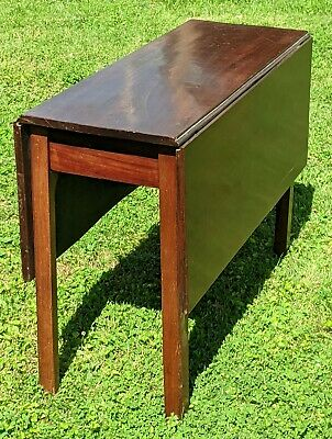 Antique American Chippendale Drop Leaf Table 18th/19th Century Mahogany