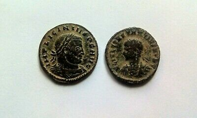 Metal detecting finds. 2 unresearched Roman bronze coins......