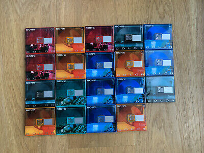 19 Minidisc Sony color 74 min neufs sealed