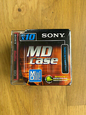 10 Minidisc Sony color 80 min neufs sealed + Case