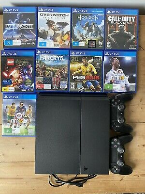 Sony PlayStation 4 Black|+ 9 Games| + 2 Controllers| BUNDLE