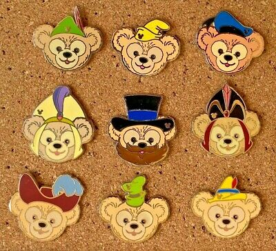 Ps1 Disney Pin Lot Of 9 Duffy Pins   Many Different Hats