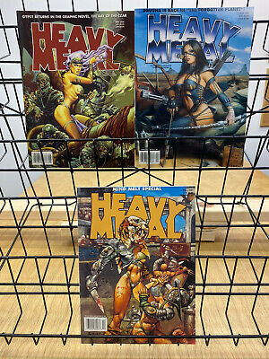 Heavy Metal Magazine May 2000 May 2001 + Mind Melt Fall Special 2001 Lot of 3