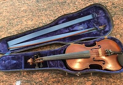 Antique Salzard Violin with Wooden Case and Bow Germany