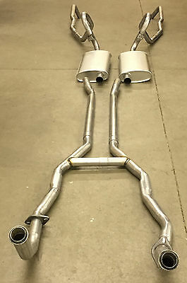 1969-71 Lincoln Mk Iii Exhaust System, 304 Stainless, Without Resonators