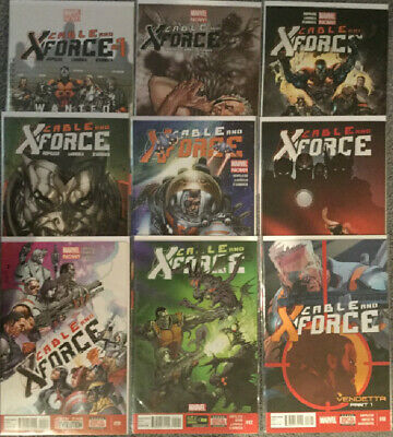 Marvel Cable and the X-Force 9 Comic Book Lot