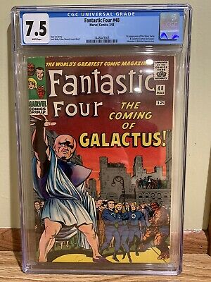 Fantastic Four 48 CGC 7.5 1st SILVER SURFER & GALACTUS Stan Lee Jack Kirby White