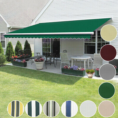 Retractable Manual Awning Canopy Outdoor Patio Garden Sun Shade Shelter 2 Sizes