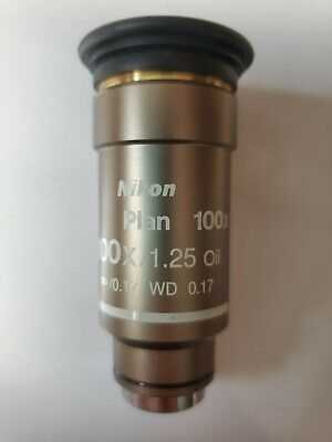 Nikon Plan 100x /1.25 Oil WD 0.17 ∞ CFI M25 Eclipse Microscope Objective