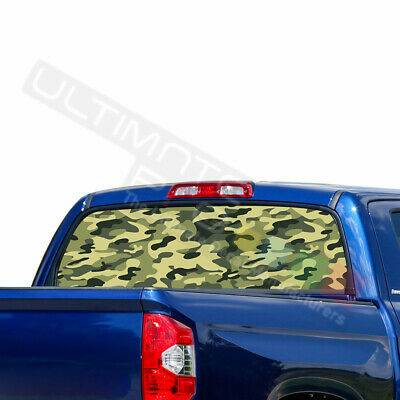 Camo Hunting Decals Window See Thru Stickers Perforated for Toyota Tundra 2016