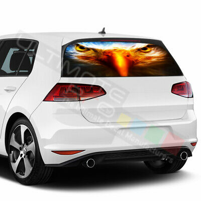 Eagles Design Decal Window See Thru Stickers Perforated for Volkswagen Golf 2017