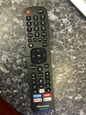 "Original Genuine HISENSE H43B7100UK 43"" Smart 4K Ultra HD LED TV Remote Control"