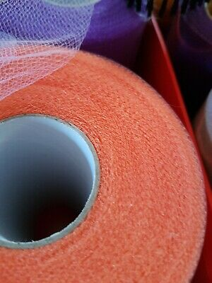 "TUTU TULLE ROLL - 6"" Wide x 100yards  Craft Fabric Soft 100% Nylon orange new B"