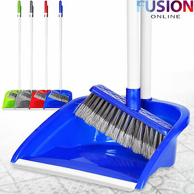 Dustpan and Brush Broom Set Long Clip Handle Sweeper Cleaning Disposal Sweeping