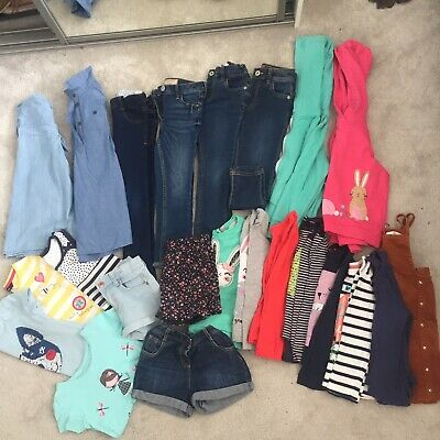 Bundle of Girls Clothes Shorts Skinny Jeans Jacket Next bluezoo H&M 4-5 Years