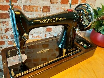 Vintage Singer 66K Hand Crank F5063130 Beautiful Cond- Serviced-Video-Working