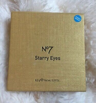 No7 Boots Starry Eyes Limited Edition Eye Make Up Liner Shadow Gold White Blue