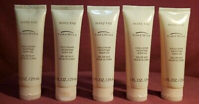 Mary Kay - Cellu-Shape Night Time Body Gel, 1Oz. - New Lot Of 5 (Five) Tubes