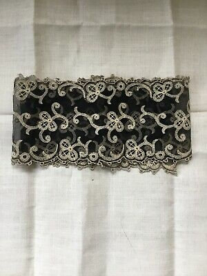 Vintage Black and Cream Lace