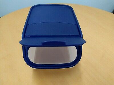 Vintage Tupperware 5.5 qt. Large Access Mates Container #4013B-1 Bold-N-Blue Lid