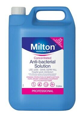 Milton Concentrated Antibacterial 5L Solution Surface Sterilizer Disinfectant