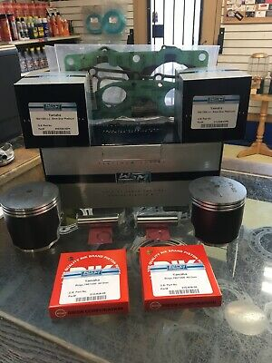 """Yamaha 760 Wave Blaster Top End Kit Pistons, Gaskets 84.50mm Bore .50mm / .020"""""""