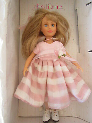 "Amy She's Like Me ""A Tea Party"" NWD Collectible Blue Eyes Blond Doll 9"" (PL-15mb"