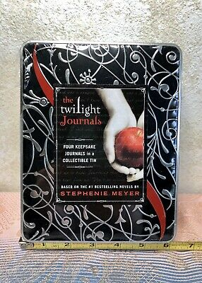The Twilight Saga Meyer Collector Tin Set of 4 Journals With Movie Quotes New