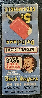 Buck Rogers On The Radio Matchbook Cover