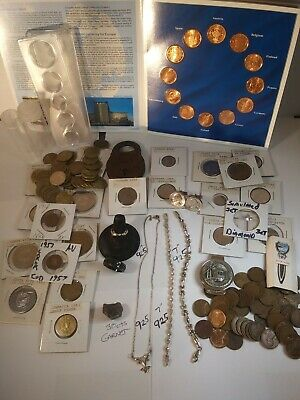925 Bracelets~925 Jewelry,Old Yale Lock,Tokens,Wheats,Gems,Coins,Proof Set,Rings