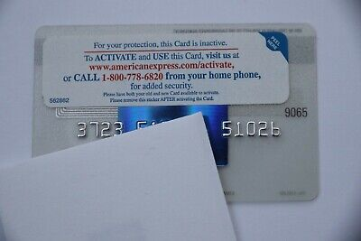 Expired 12/2009 American Express Blue Credit Card Bank Mint with Sticker