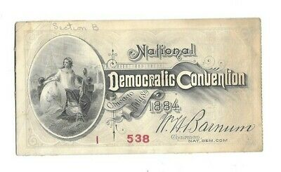 1884 National Democratic Convention Ticket Grover Cleveland President Antique
