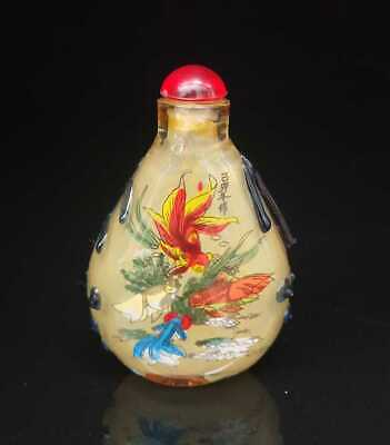 Chinese old peking Glass Handmade Inside painting Exquisite Snuff Bottles 002