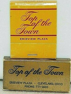 Top of the Town Erieview Plaza Hotel Stouffer Cleveland OH Vintage Matchbook