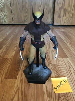 Sideshow Collectibles Wolverine 1/6 Scale Figure Brown Suit (not Hot Toys)