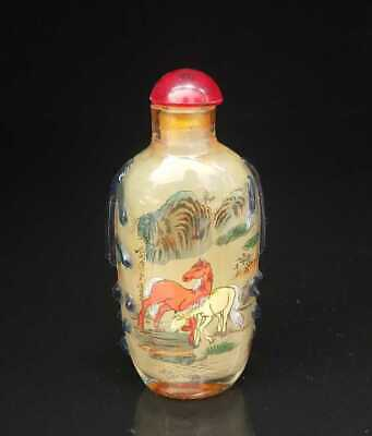 Chinese old peking Glass Handmade Inside painting Exquisite Snuff Bottles 010
