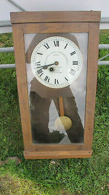 Fusee clock Gledhill Brook time recorder clock, modified.Key included.