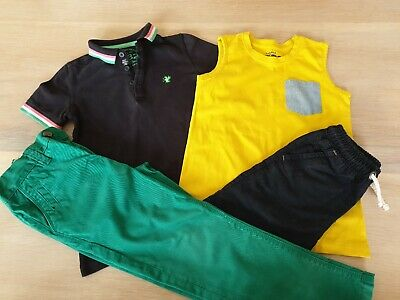 (L) Boys Bundle Age 6 Years Inc Next Trousers Polo Shirt Shorts