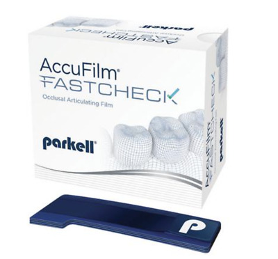AccuFilm FastCheck Double-Sided Occlusal Articulating Film Strips 100/Pkg