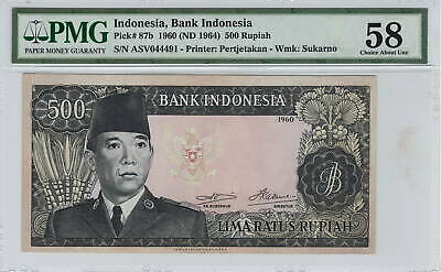 Indonesia banknote P87a-2023 500 Rupiah 1960 VF  We Combine