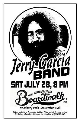JERRY GARCIA BAND 1980 ASBURY PARK NJ Convention Hall POSTER/SIGN by THouse