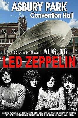 LED ZEPPELIN 1969  ASBURY PARK NJ Convention Hall POSTER/SIGN by THouse