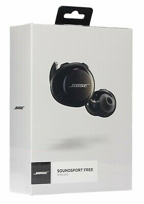 NEW Bose SoundSport Free Wireless In-Ear Headphones - Black 774373-0010