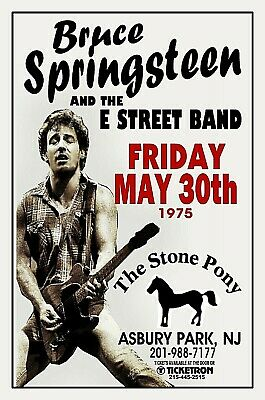 BRUCE SPRINGSTEEN 1975 THE STONE PONY Asbury Park NJ POSTER/SIGN by THouse