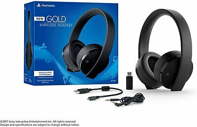 Sony PlayStation Gold Wireless Headset 7.1 Surround Sound PS4 - NEW *FAST SHIPNG