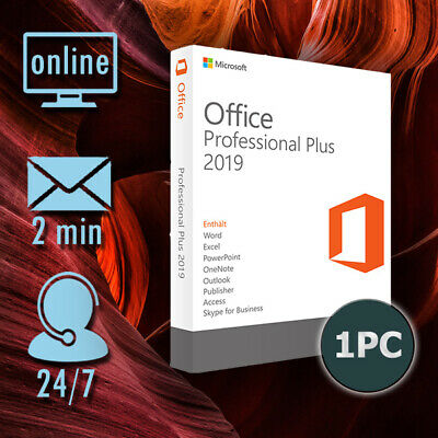 Microsoft Office 2019 Professional Plus für 1 PC/Versand per E-Mail